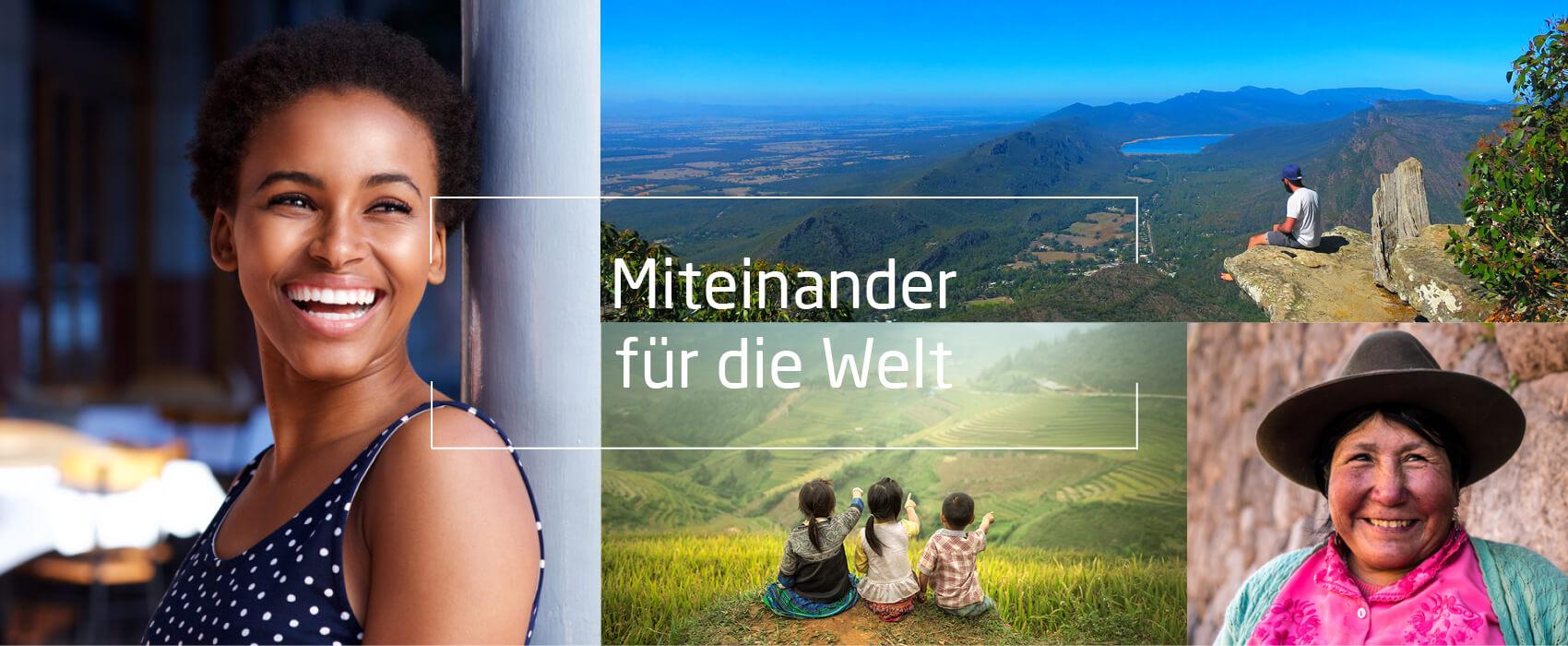 Internationale Bilder, Text: Miteinander für die Welt