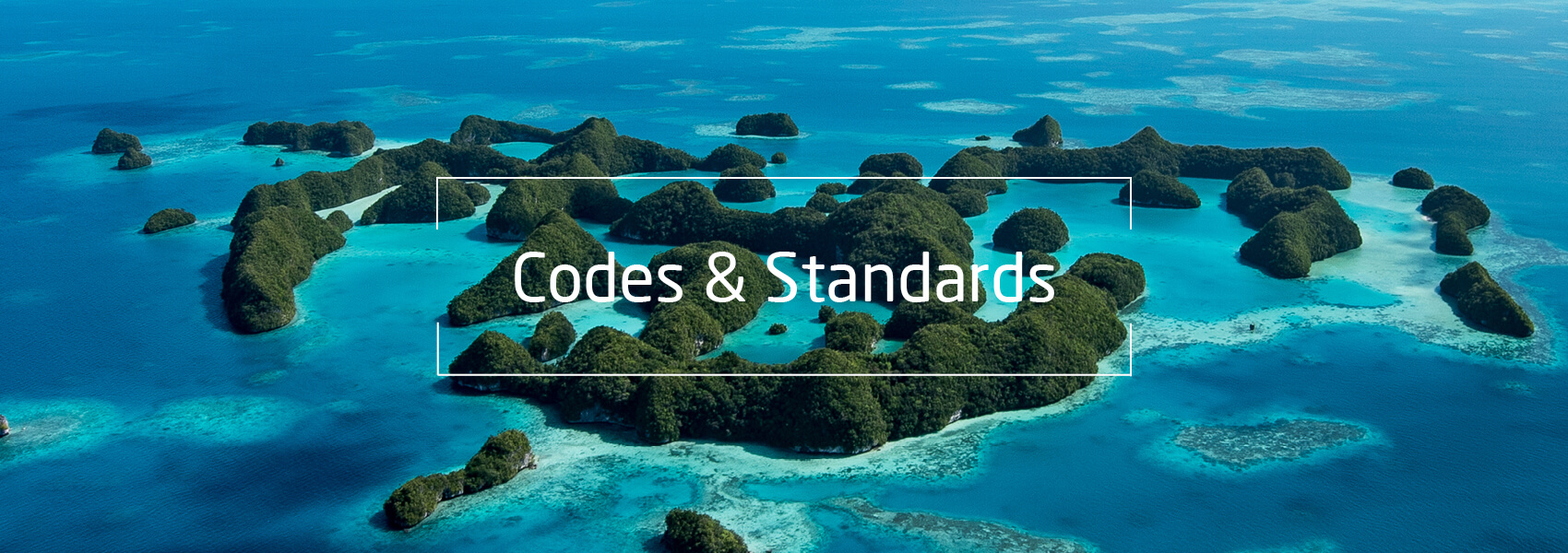 Inseln im Meer, Text: Codes & Standards