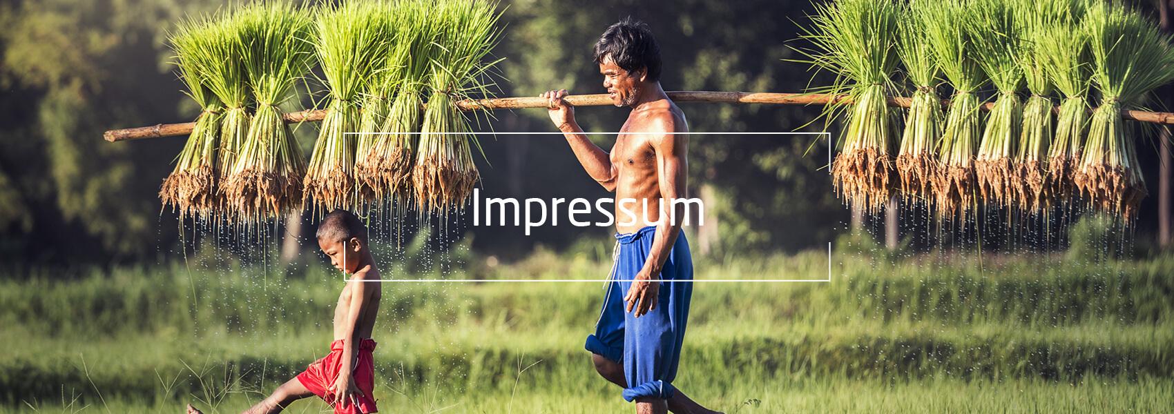 Asien Vater und Sohn, Text: Impressum