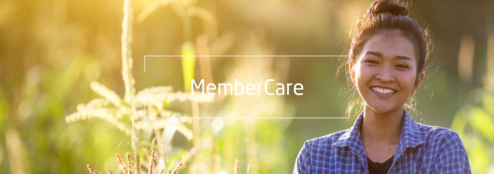 Woman, Text: Member Care